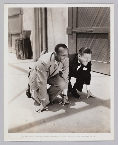 Image for Photograph of Jack Oakie and Jesse Owens