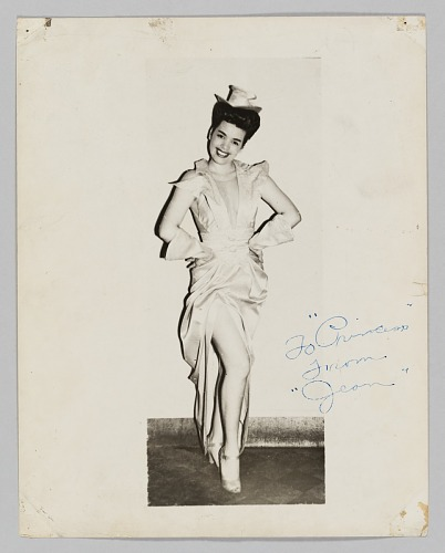 Image for Photograph of a female performer, Jean, in costume