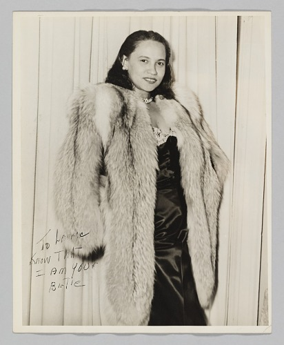 Image for Photograph of a woman, Birtie, in a fur coat