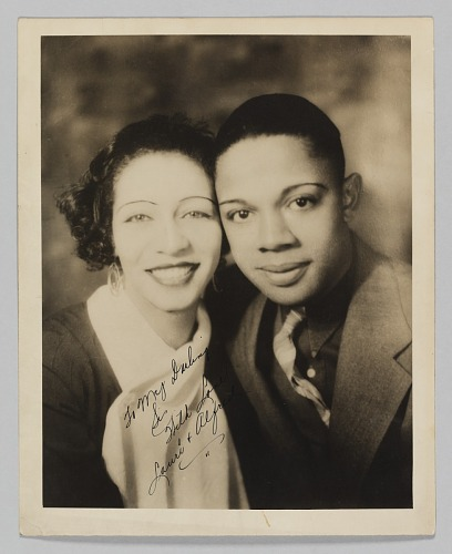 Image for Photograph of Laura Cathrell and an unidentified man