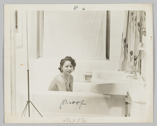 Image for Photograph of Alice Key in a bathtub