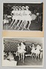 Thumbnail for Construction paper with two photographs of performing female dancers