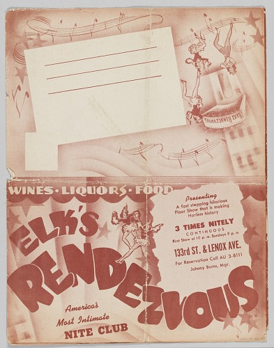 Image for Promotional mailer from the Elk's Rendezvous Nite Club