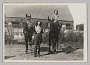 Thumbnail for Photograph of Laura Cathrell, a woman, and two horses