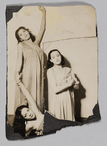 Image for Photograph of three female performers in costume