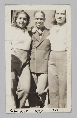 Image for Photograph of a man and two chorus girls from the Plantation Club