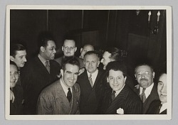 Photograph of a cocktail party held by Irving Mills
