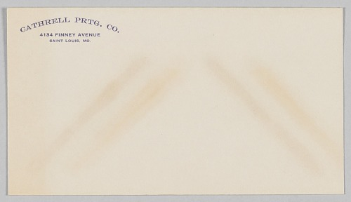 Image for Envelope for the Cathrell Printing Company
