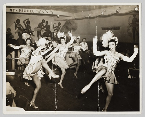 Image for Photograph of five performing showgirls