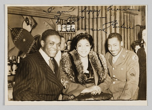 Image for Photograph of two men and a woman taken at the Ubangi Club