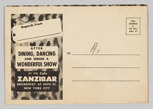Image for Program for Cafe Zanzibar