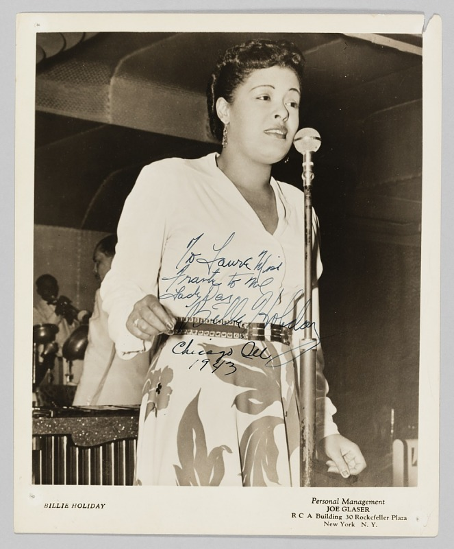 Image 1 for Photograph of Billie Holiday