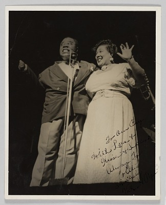 Photograph of Louis Armstrong and Thelma Middleton