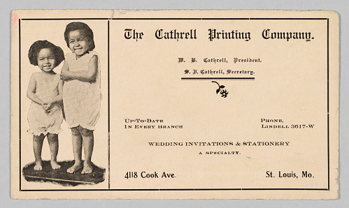 Image for Advertisement for the Cathrell Printing Company
