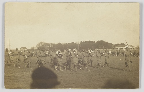 Image for Photographic postcard of a military marching band