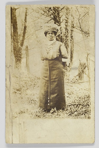 Image for Photographic postcard of an unidentified woman