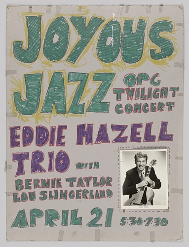 Image for Poster advertising jazz concerts for Richard Sudhalter and the Eddie Hazell Trio