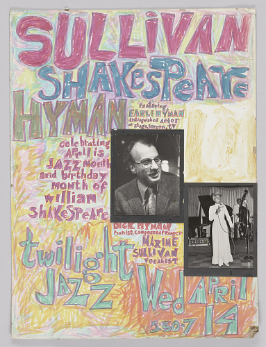 Image for Poster for a performence by Maxine Sullivan, Earle Hyman, and Dick Hyman
