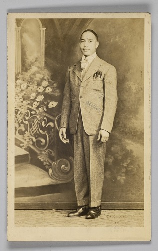 Image for Photographic postcard of an unidentified man in a suit