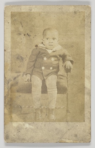 Image for Photographic postcard of an unidentified young boy