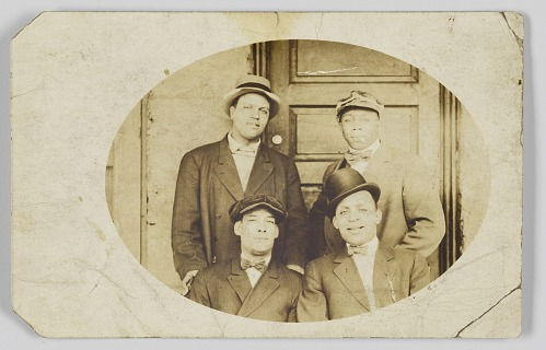 Image for Photographic postcard of four unidentified men