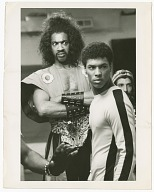 Image for Film still of Julius Carry and Taimak in The Last Dragon