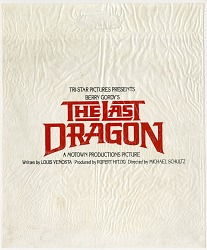 White plastic bag advertising the film The Last Dragon