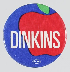 Pinback button for David Dinkins campaign