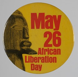 Pinback button for African Liberation Day