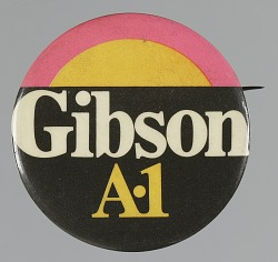 Pinback button for Kenneth A. Gibson mayoral campaign