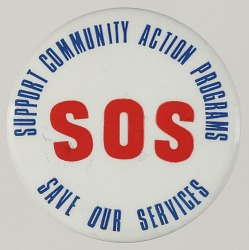 Pinback button in support of Community Action Programs