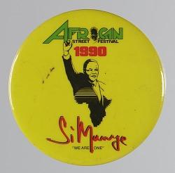 Pinback buttons for an African Street Festival