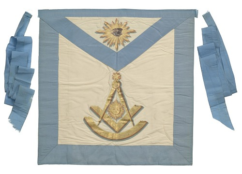 Image for Masonic apron from the Prince Hall Grand Lodge of Massachusetts