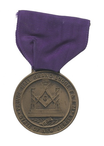 Image for Medal for the 100th anniversary of the Prince Hall Grand Lodge of New Jersey