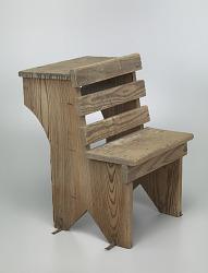 Wooden school desk from Bethel Evangelical Lutheran Church and School