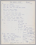 "Image 1 for Handwritten lyrics to ""You Need Love"" by Willie Dixon, signed by Ron Wood"