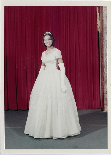 Image for Photographs of Jessica B. Harris wearing a white dress and gloves