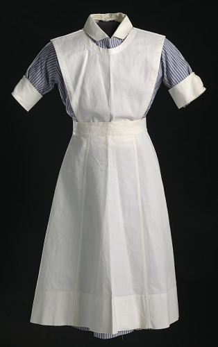 Image for Nurse's uniform apron worn by Pauline Brown Payne