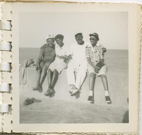 Image for Digital image of Taylor family members seaside on Martha's Vineyard