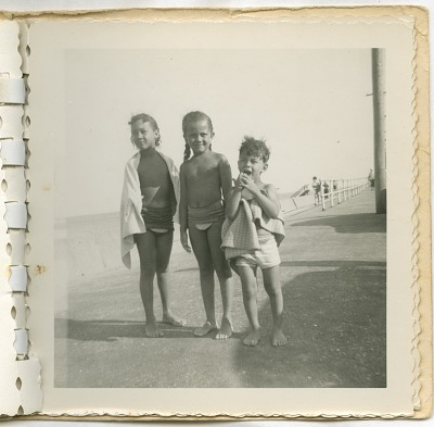 Digital image of Taylor family children seaside on Martha's Vineyard