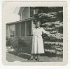 Thumbnail for Digital image of a woman outside the Taylor family home on Martha's Vineyard