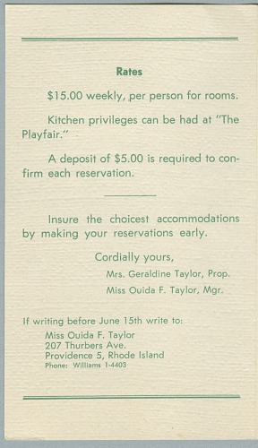 Image for Vacations at Taylor's Playfair