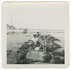 Thumbnail for Digital image of Taylor family women posing on rocks on Martha's Vineyard