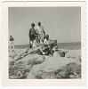 Thumbnail for Digital image of Taylor family members posing on rocks on Martha's Vineyard