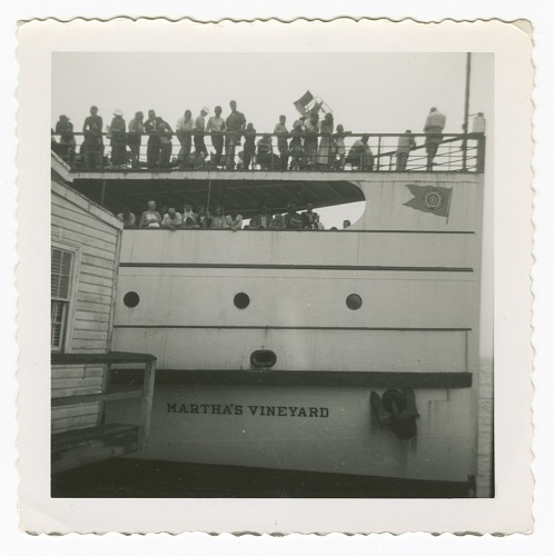 Image for Digital image of people on board a ferry boat on Martha's Vineyard