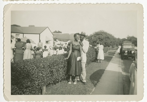 Image for Digital image of a couple outside a gathering on Martha's Vineyard
