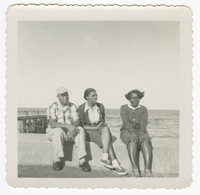 Digital image of Taylor family members seaside on Martha's Vineyard