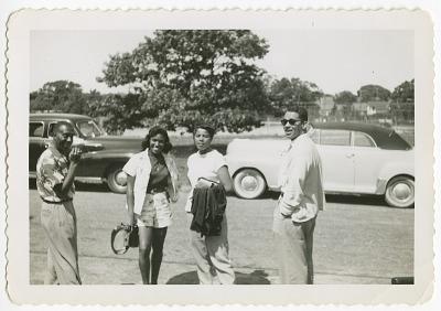 Digital image of Taylor family members on Martha's Vineyard