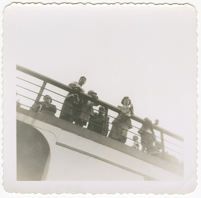 Digital image of Taylor family members on a boat on Martha's Vineyard