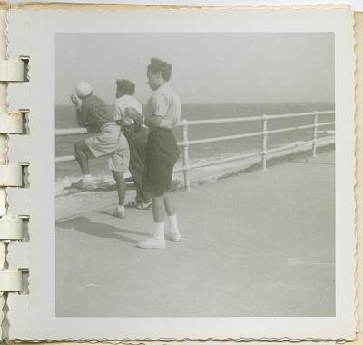 Digital image of Taylor family members seaside on Martha's Vineyard